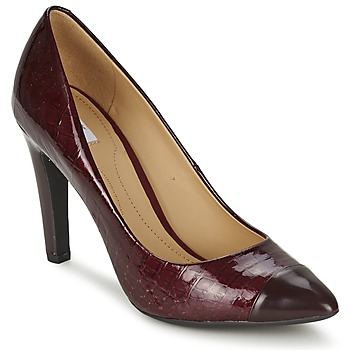 Schoenen Dames pumps Geox CAROLINE Bordeau