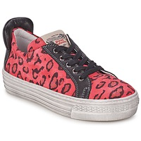Schoenen Meisjes Lage sneakers Diesel JAKID Roze / Luipaard