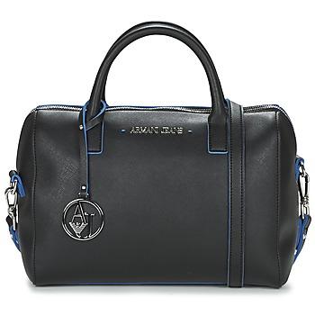 Tassen Dames Handtassen kort hengsel Armani jeans FROGILO Zwart