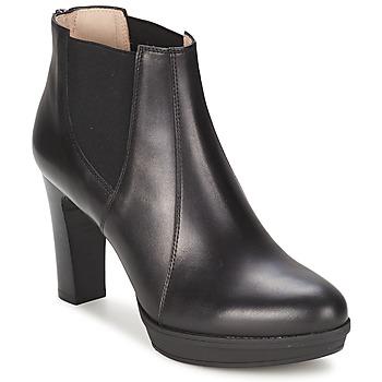Schoenen Dames Enkellaarzen Unisa MIJAL Zwart