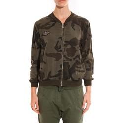 Textiel Dames Wind jackets Sweet Company Veste militaire Miss Carla Groen