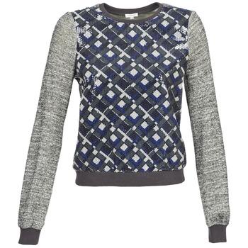 Textiel Dames Sweaters / Sweatshirts Manoush MOSAIQUE Grijs / Zwart / Blauw