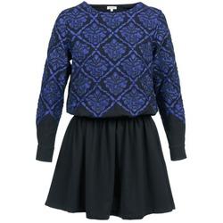 Textiel Dames Korte jurken Manoush GIRANDOLINE Zwart / Blauw
