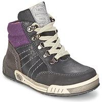 Schoenen Jongens Hoge sneakers Garvalin TOMAS Grijs / Violet