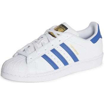 Schoenen Kinderen Lage sneakers adidas Originals Superstar Foundation J Blanc