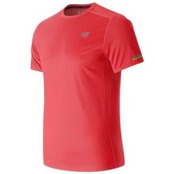 Textiel Heren T-shirts korte mouwen New Balance Ice Short Sleeve Sinaasappel
