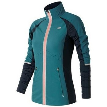 Textiel Dames Trainings jassen New Balance Precision Run Jacket Marineblauw-Roos-Blauw