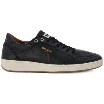 Blauer Sneaker Leather
