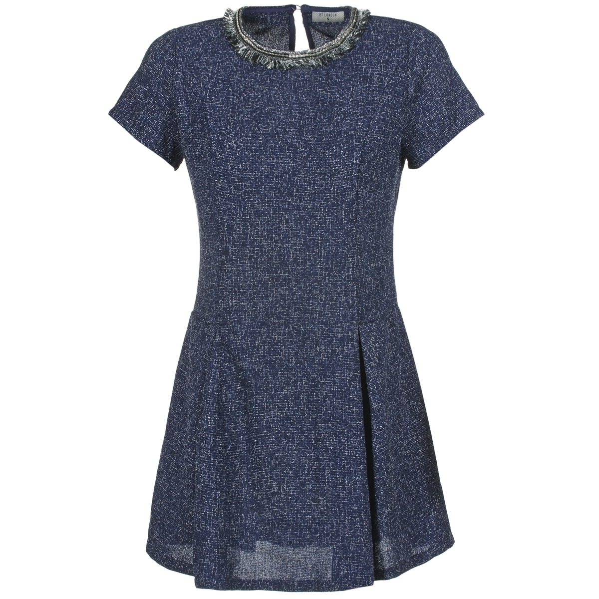 Betty London korte jurk flinate blauw