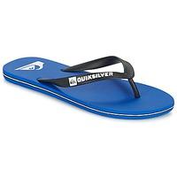 Schoenen Heren Teenslippers Quiksilver MOLOKAI Zwart / Blauw / Wit