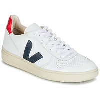 Schoenen Lage sneakers Veja V-10 Wit / Blauw / Rood