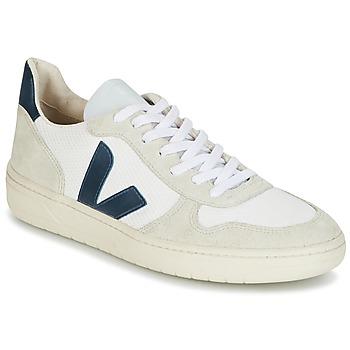 Schoenen Heren Lage sneakers Veja V-10 Wit / Blauw