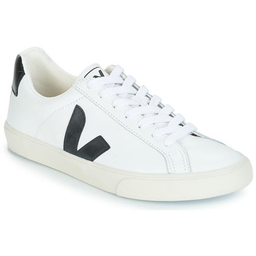 Schoenen Lage sneakers Veja ESPLAR LOW LOGO Wit / Zwart