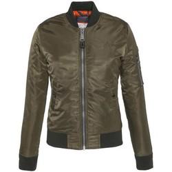 Textiel Dames Wind jackets Schott BOMBER FEMME  ARMY KAKY JKT AIRFORCE1W Groen