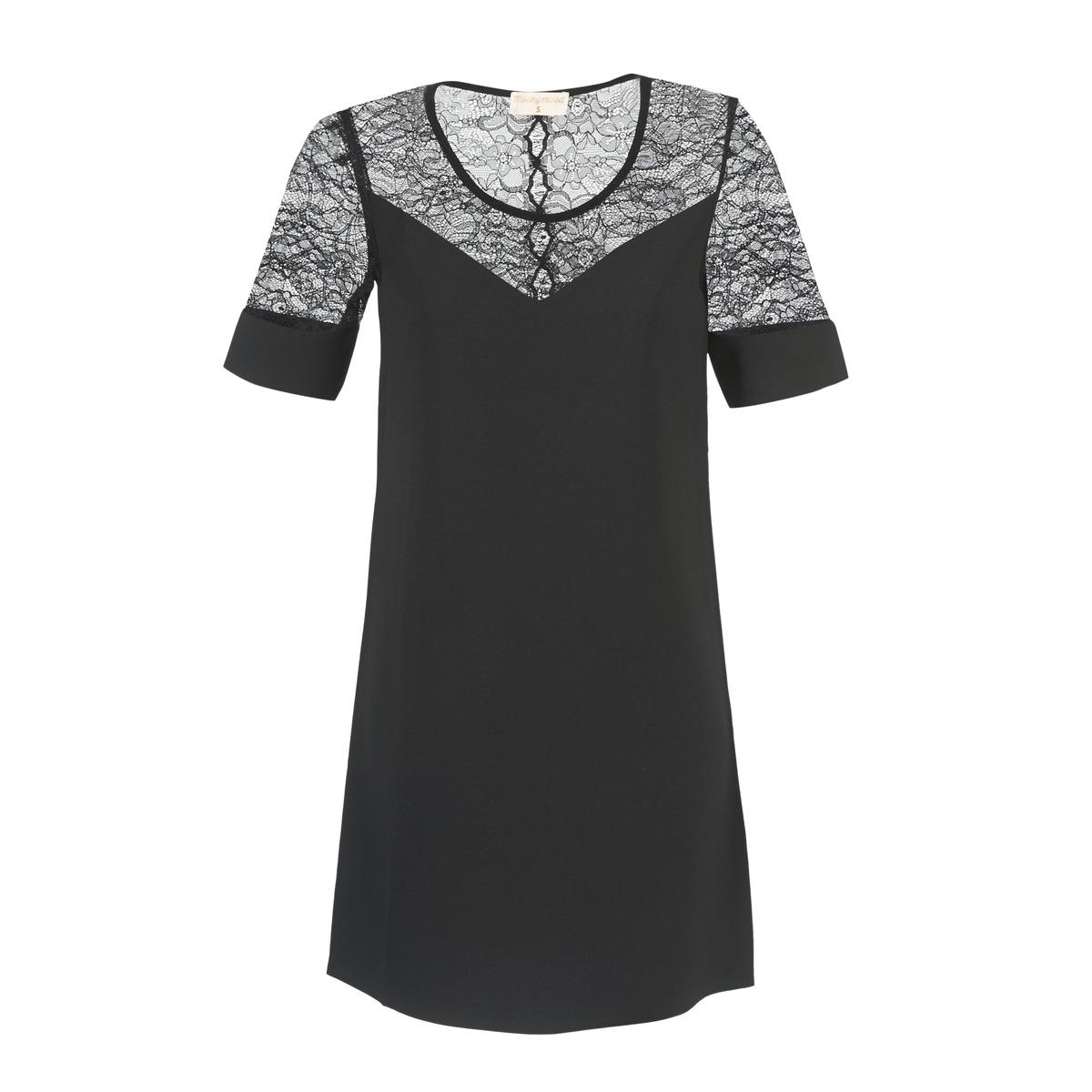 Moony Mood korte jurk fufu zwart