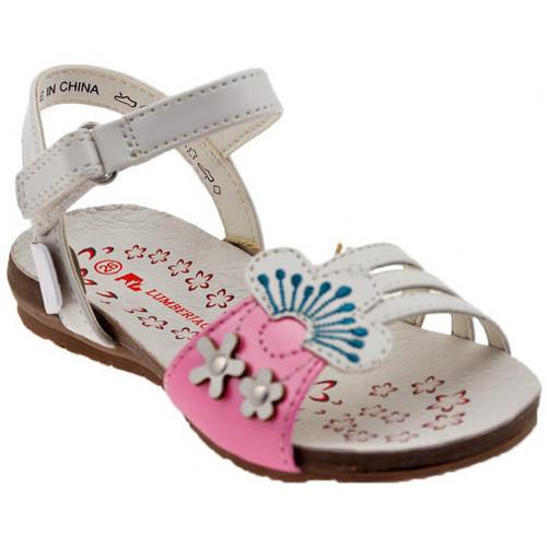 Schoenen Meisjes Sandalen / Open schoenen Lumberjack  Wit