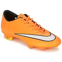Schoenen Heren Voetbal Nike MERCURIAL VICTORY V FG Oranje / Wit