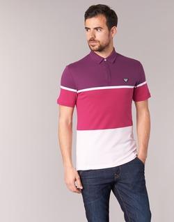 Textiel Heren Polo's korte mouwen Armani jeans MARAFOTA Violet / Rood / Wit