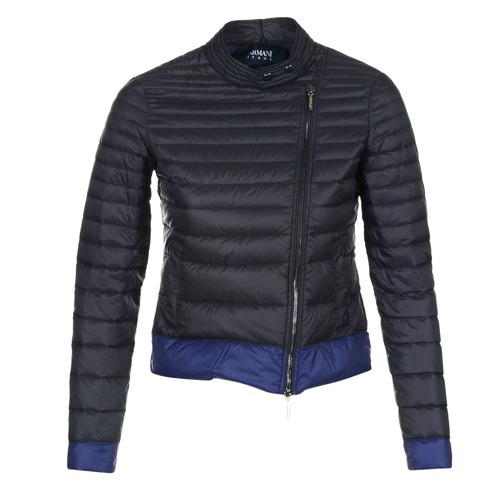 Textiel Dames Dons gevoerde jassen Armani jeans BEAUJADO Zwart / Blauw