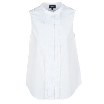 Textiel Dames Overhemden Armani jeans GIKALO Wit