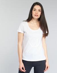 Textiel Dames T-shirts korte mouwen Armani jeans LASSERO Wit