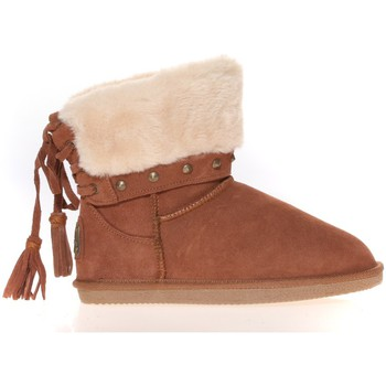 Schoenen Dames Laarzen Ilario Ferucci Boots Rebus Camel Bruin