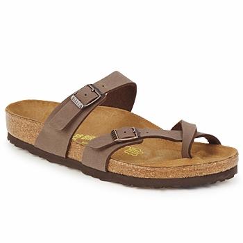 Schoenen Dames Leren slippers Birkenstock MAYARI Mokka