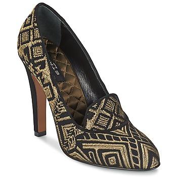Schoenen Dames pumps Etro 3055 Zwart / Goud