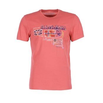 Textiel Heren T-shirts korte mouwen Napapijri VINTAGE Koraal