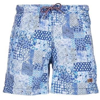 Textiel Heren Zwembroeken/ Zwemshorts Napapijri VAIL Blauw