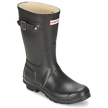 Schoenen Dames Regenlaarzen Hunter WOMEN'S ORIGINAL SHORT Zwart