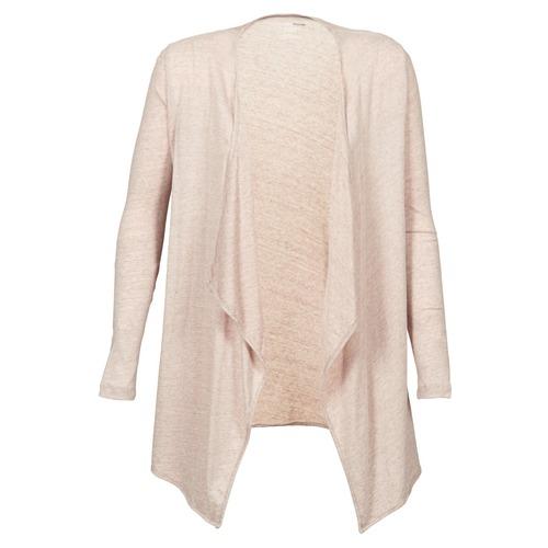 Textiel Dames Vesten / Cardigans Majestic 518 Beige