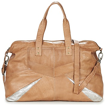 Tassen Dames Handtassen lang hengsel Pieces JACE LEATHER TRAVEL BAG Cognac / Zilver