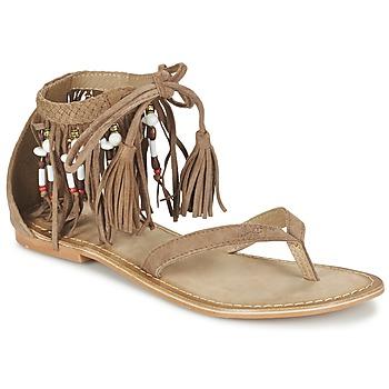 Schoenen Dames Sandalen / Open schoenen Vero Moda VMKAYA LEATHER SANDAL Cognac