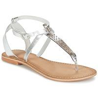 Schoenen Dames Sandalen / Open schoenen Vero Moda VMANNELI LEATHER SANDAL Zilver