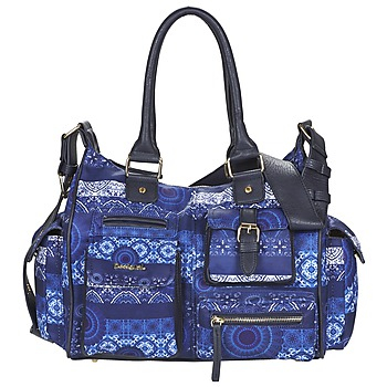 Tassen Dames Handtassen lang hengsel Desigual LONDON MEDIUM BARBADOS Blauw