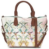 Tassen Dames Handtassen kort hengsel Desigual FLORIDA TROPICALICIOUS Ecru / Camel / Multi