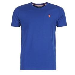 Textiel Heren T-shirts korte mouwen U.S Polo Assn. DBL HORSE Blauw