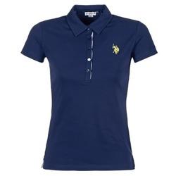 Textiel Dames Polo's korte mouwen U.S Polo Assn. LOGO Marine