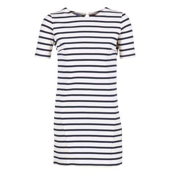 Textiel Dames Korte jurken Loreak Mendian HAMABI Marine / Wit