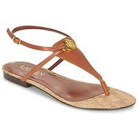 Schoenen Dames Sandalen / Open schoenen Ralph Lauren ANITA SANDALS CASUAL Bruin