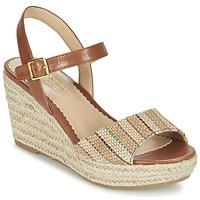 Schoenen Dames Sandalen / Open schoenen Ralph Lauren KEARA ESPADRILLES CASUAL Bruin / Beige