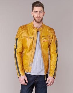 Textiel Heren Leren jas / kunstleren jas Redskins RIVAS Geel