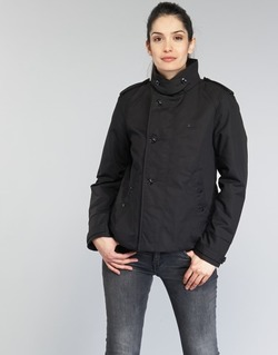 Textiel Dames Trenchcoats G-Star Raw FLORENCE CROPPED Zwart