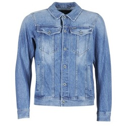 Textiel Heren Spijker jassen G-Star Raw 3301 DECONSTRUCTED 3D SLIM Blauw