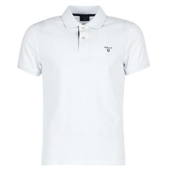 Textiel Heren Polo's korte mouwen Gant CONTRAST COLLAR PIQUE Wit