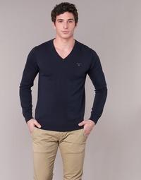 Textiel Heren Truien Gant WEIGHT COTTON V NECK Marine