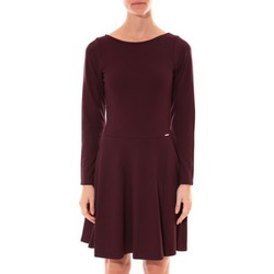 Textiel Dames Korte jurken Coquelicot Robe  Col V Bordeaux 16201 Rood