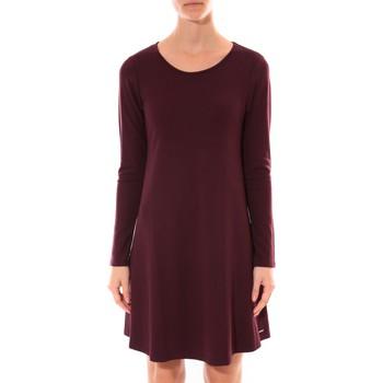 Textiel Dames Korte jurken Coquelicot Robe   Col Rond Bordeaux 16202 Rood