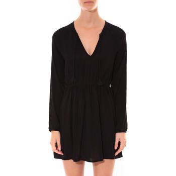 Textiel Dames Korte jurken Coquelicot Robe   Col V Noir 16216 Zwart